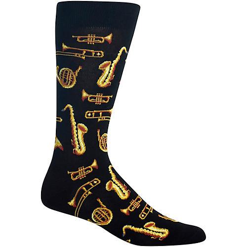 Hot Sox Jazz Instruments - Mens Black Sock