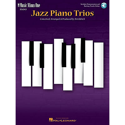 Music Minus One Jazz Piano Trios (Deluxe 2-CD Set) Music Minus One Series Softcover with CD