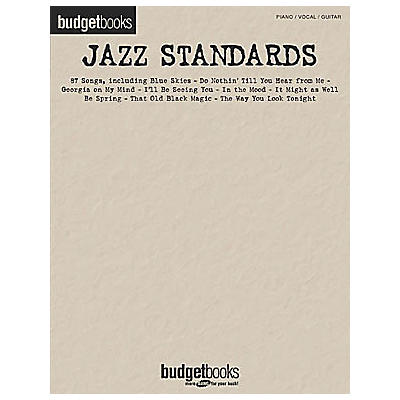 Hal Leonard Jazz Standards Budget Piano, Vocal, Guitar Songbook