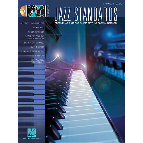 Hal Leonard Jazz Standards Piano Duet Play-Along Volume 30 Book/CD