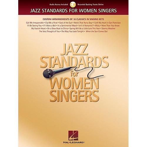 Hal Leonard Jazz Standards for Women Singers Book/CD