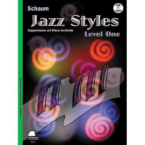 SCHAUM Jazz Styles (Level One Book/CD) Educational Piano Series Softcover with CD Written by John Revezoulis