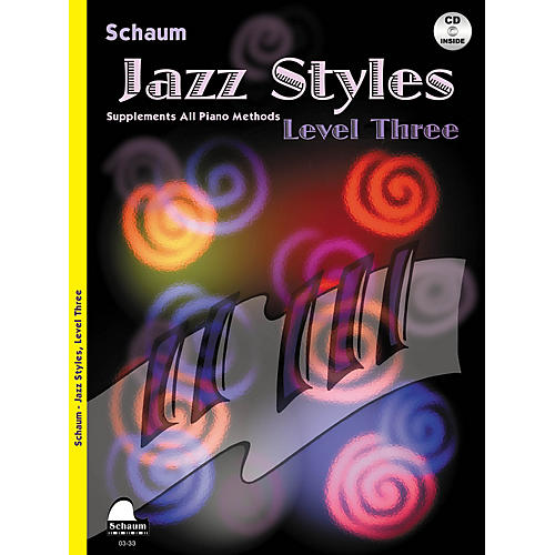 SCHAUM Jazz Styles (Level Three Book/CD) Educational Piano Book with CD by John Revezoulis