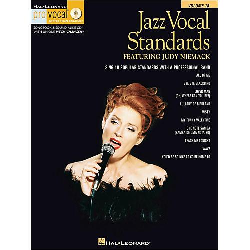 Hal Leonard Jazz Vocal Standards - Pro Vocal Series Featuring Judy Niemack Volume 18 Book/CD