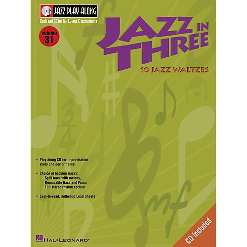 Hal Leonard Jazz in Three (Eb Instruments / C Instruments / Bb Instruments) (Book and CD Package)