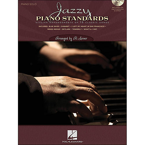 Hal Leonard Jazzy Piano Standards - Lush Solo Arrangements Of 15 Classic Songs (CD/Pkg)