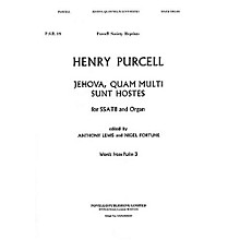 Novello Jehova Quam Multi Sunt SATB Composed by Henry Purcell