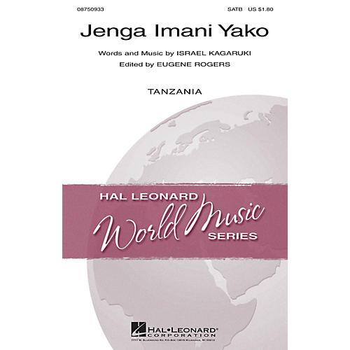 Hal Leonard Jenga Imani Yako SATB composed by Israel Kagaruki