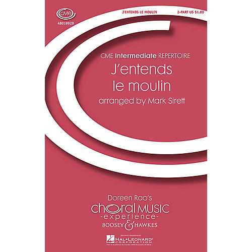 Boosey and Hawkes J'entends le moulin (CME Intermediate) 2-Part arranged by Mark Sirett