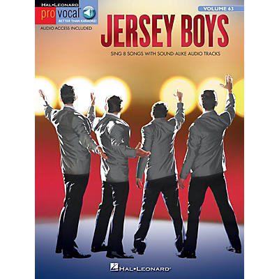 Hal Leonard Jersey Boys Pro Vocal Series Softcover Audio Online
