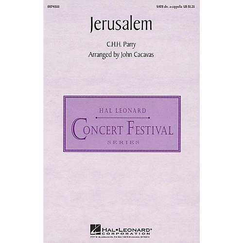 Hal Leonard Jerusalem SATB DV A Cappella arranged by John Cacavas