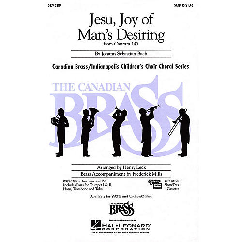 Hal Leonard Jesu, Joy of Man's Desiring IPAKB Composed by Johann Sebastian Bach
