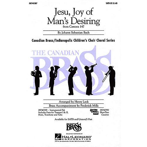 Hal Leonard Jesu, Joy of Man's Desiring SATB composed by Johann Sebastian Bach