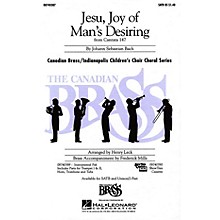 Hal Leonard Jesu, Joy of Man's Desiring UNIS/2PT Composed by Johann Sebastian Bach