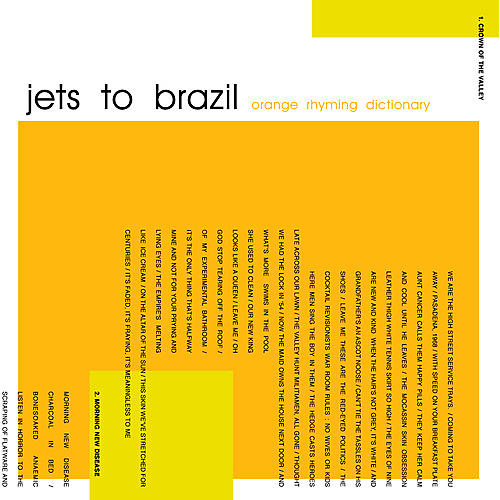 Alliance Jets to Brazil - Orange Rhyming Dictionary