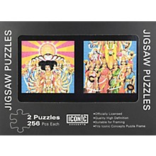 Iconic Concepts Jimi Hendrix - Axis Bold as Love Jigsaw Puzzles (2 puzzle set)