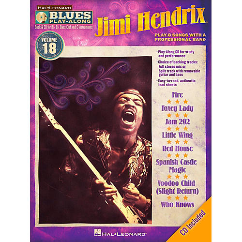 Hal Leonard Jimi Hendrix - Blues Play-Along Volume 18 Book/CD