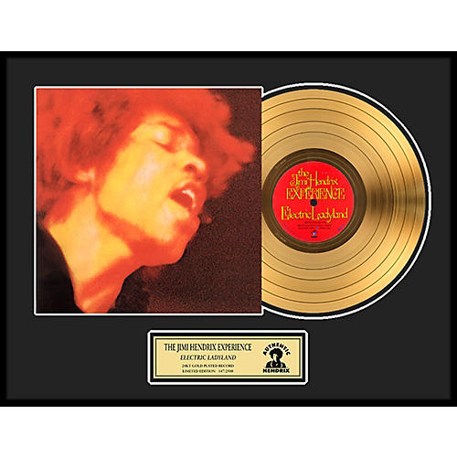 24 Kt. Gold Records Jimi Hendrix - Electric Ladyland Gold LP Limited Edition of 2500