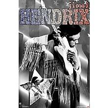 Jimi Hendrix - Stars And Stripes Poster Premium Unframed