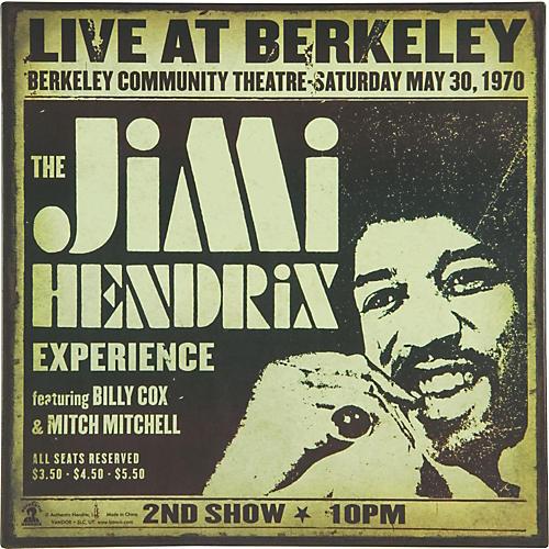 Gear One Jimi Hendrix Live Metal Sign