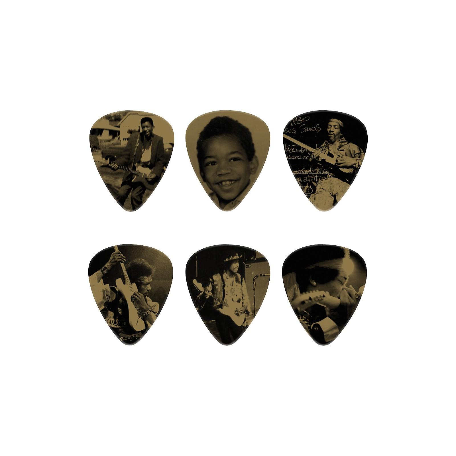 Dunlop Jimi Hendrix West Coast Seattle Boy Pick Tin with 6 Heavy Picks