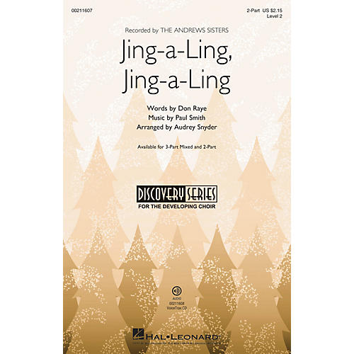 Hal Leonard Jing-a-Ling, Jing-a-Ling (Discovery Level 2) 2-Part arranged by Audrey Snyder