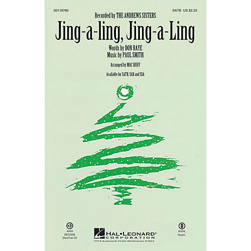 Hal Leonard Jing-a-Ling, Jing-a-Ling SATB arranged by Mac Huff