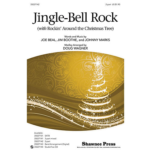 Hal Leonard Jingle-Bell Rock (with Rockin' Around the Christmas Tree) 2-Part arranged by Douglas Wagner