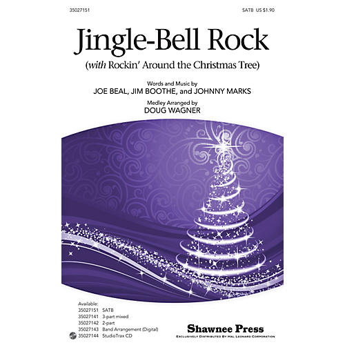 Shawnee Press Jingle-Bell Rock (with Rockin' Around the Christmas Tree) SATB arranged by Douglas Wagner