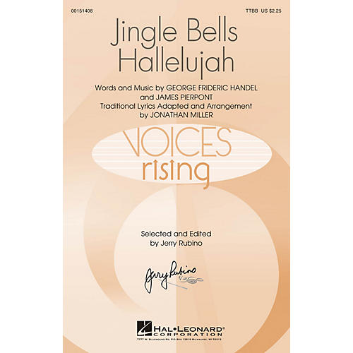 Hal Leonard Jingle Bells Hallelujah TTBB arranged by Jonathan Miller