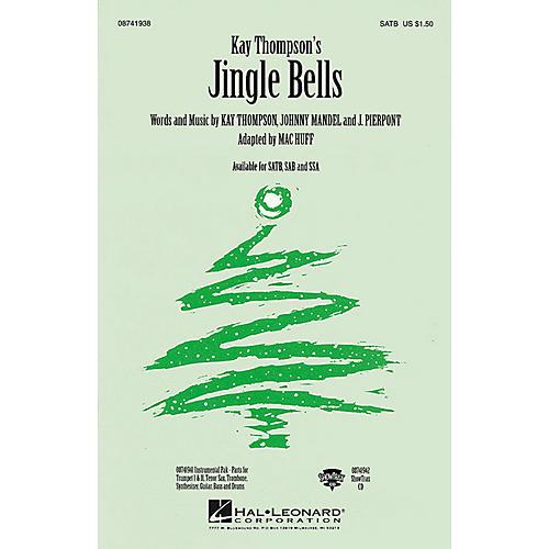 Hal Leonard Jingle Bells (Instrumental Pak (Combo)) Combo Parts Arranged by Mac Huff