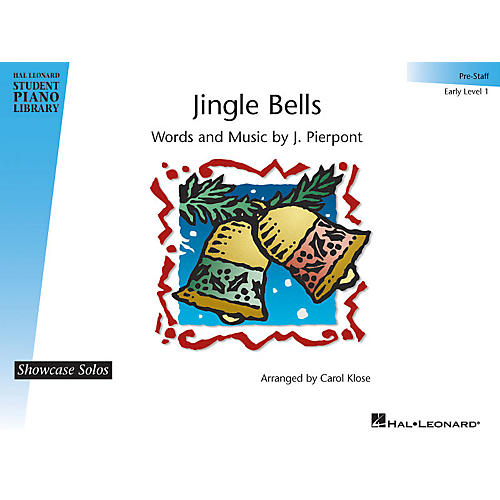Hal Leonard Jingle Bells Piano Library Series by J. Pierpont (Level Early Elem (Pre-Staff))