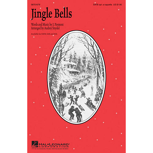 Hal Leonard Jingle Bells SAB optional a cappella Arranged by Audrey Snyder