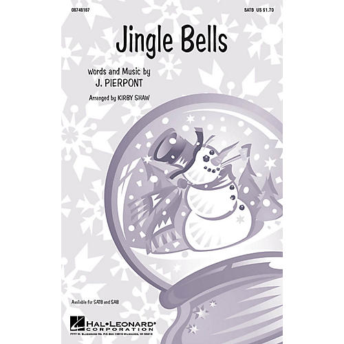 Hal Leonard Jingle Bells SATB a cappella arranged by Kirby Shaw