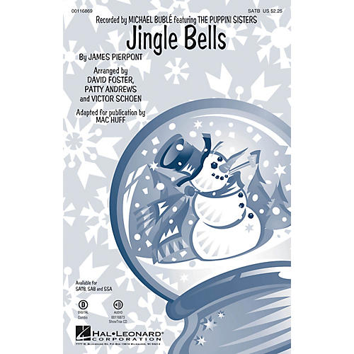 Hal Leonard Jingle Bells SATB by Michael Bublé arranged by Mac Huff