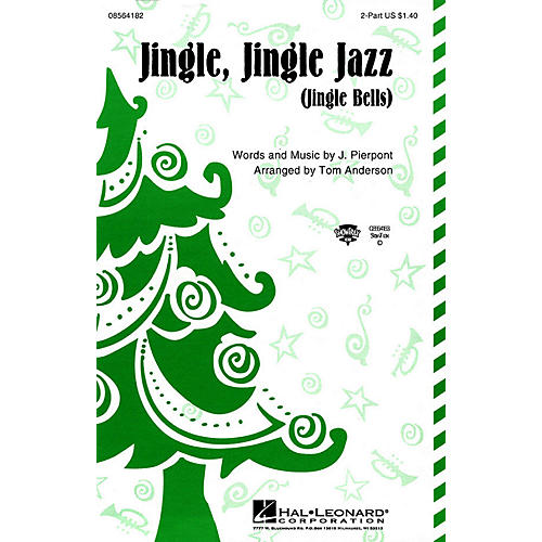 Hal Leonard Jingle Jingle Jazz 2-Part arranged by Tom Anderson