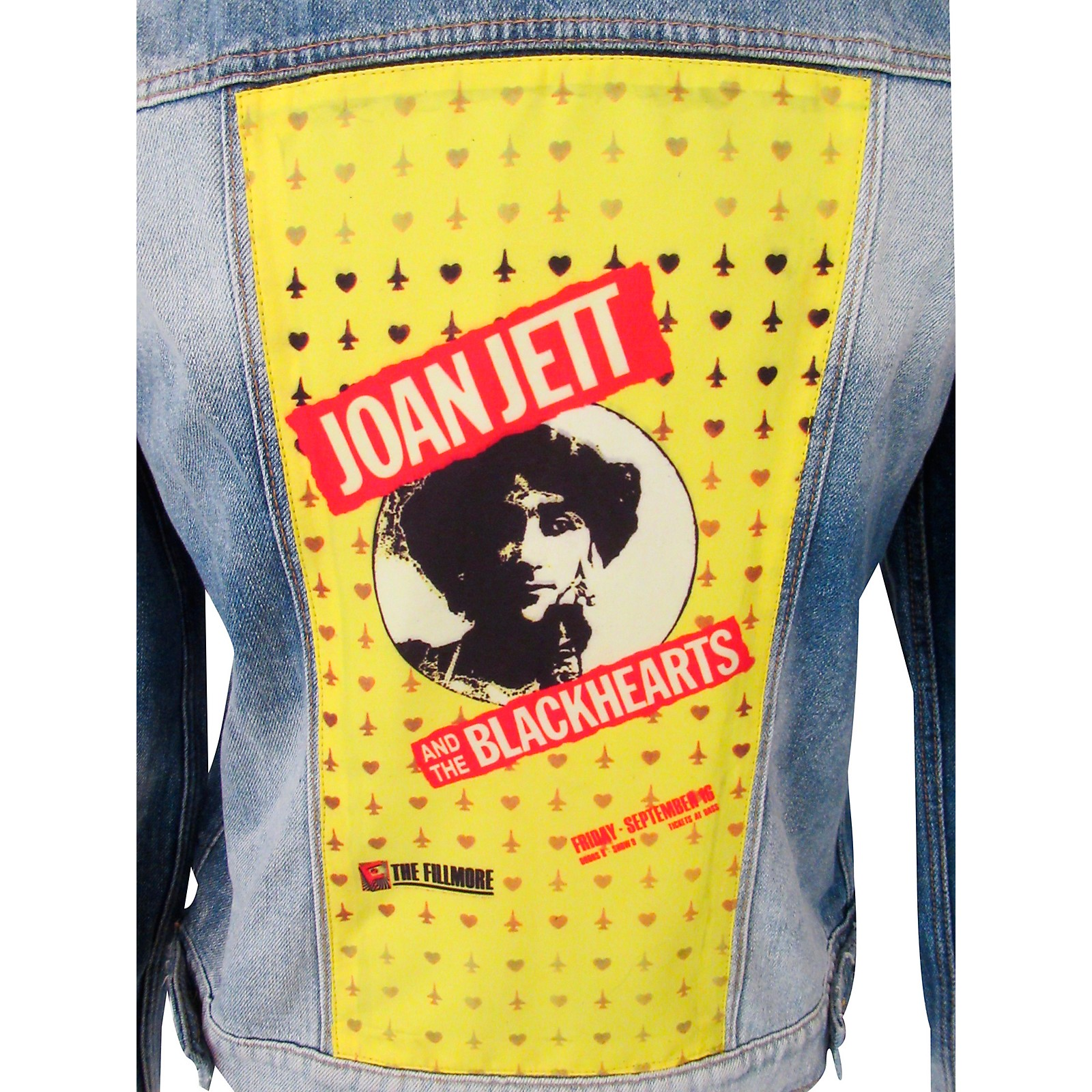 Dragonfly Clothing Joan Jett & The Blackhearts - The Fillmore - Spades & Clovers - Womens Denim Jacket