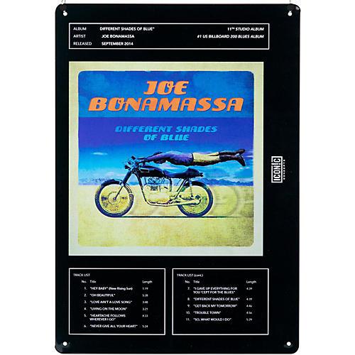 Iconic Concepts Joe Bonamassa Tin Sign - Different Shades of Blue