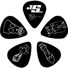 Joe Satriani Signature Guitar Picks 10-Pack Black Thin