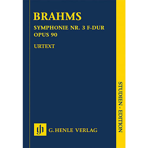 G. Henle Verlag Johannes Brahms - Symphony No. 3 in F Major Op. 90 Henle Music Folios Series Softcover by Johannes Brahms
