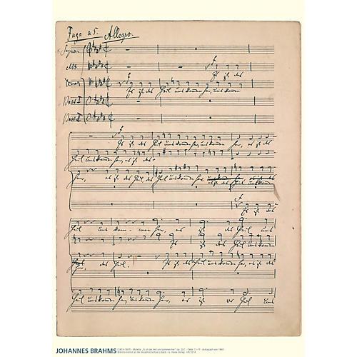 G. Henle Verlag Johannes Brahms Music Manuscript Poster Henle Music Folios Series by Johannes Brahms
