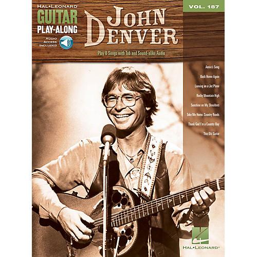 Hal Leonard John Denver (Guitar Play-Along Volume 187) Guitar Play-Along Series Softcover Audio Online by John Denver