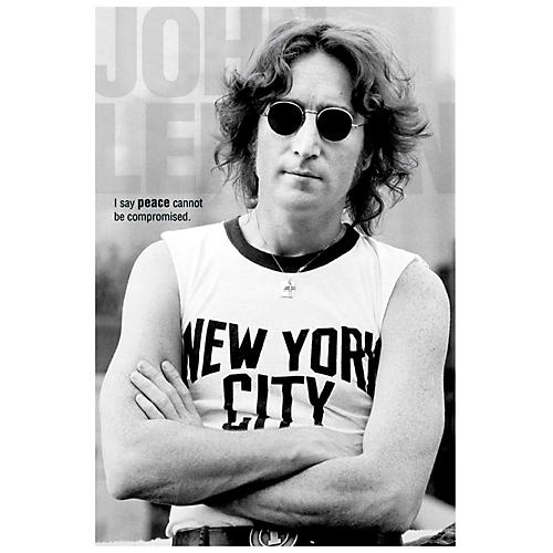 Hal Leonard John Lennon NYC Wall Poster