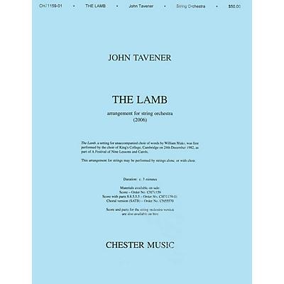 Music Sales John Tavener: The Lamb (String Orchestra Version) Score SATB