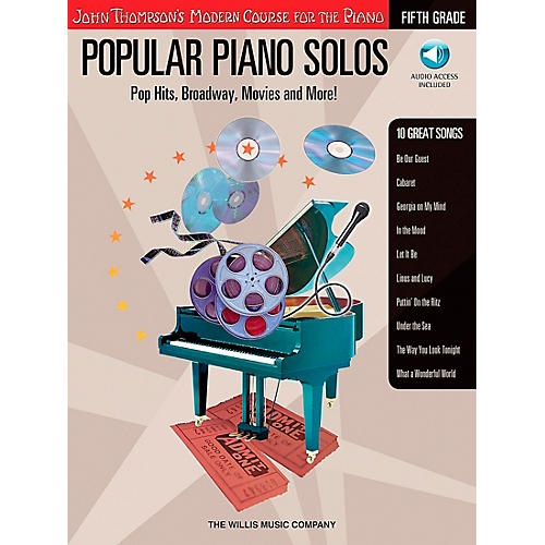 Willis Music John Thompson's Modern Course for The Piano - Popular Piano Solos Fifth Grade Book/CD