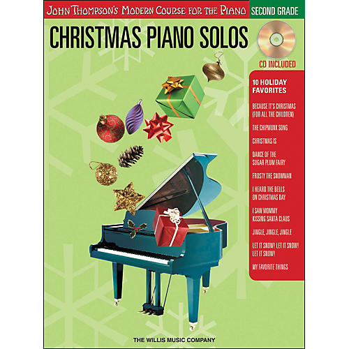 Willis Music John Thompson's Modern Course for the Piano - Christmas Piano Solos Second Grade Book/CD