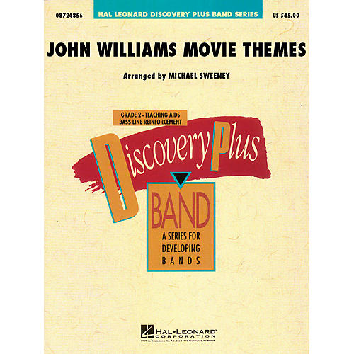 Hal Leonard John Williams: Movie Themes for Band - Discovery Plus Band Series Level 2 arranged by Michael Sweeney