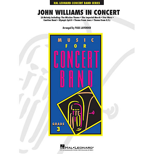 Hal Leonard John Williams in Concert - Young Concert Band Series Level 3 arranged by Paul Lavender