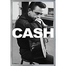 Johnny Cash - Cash Poster Framed Silver