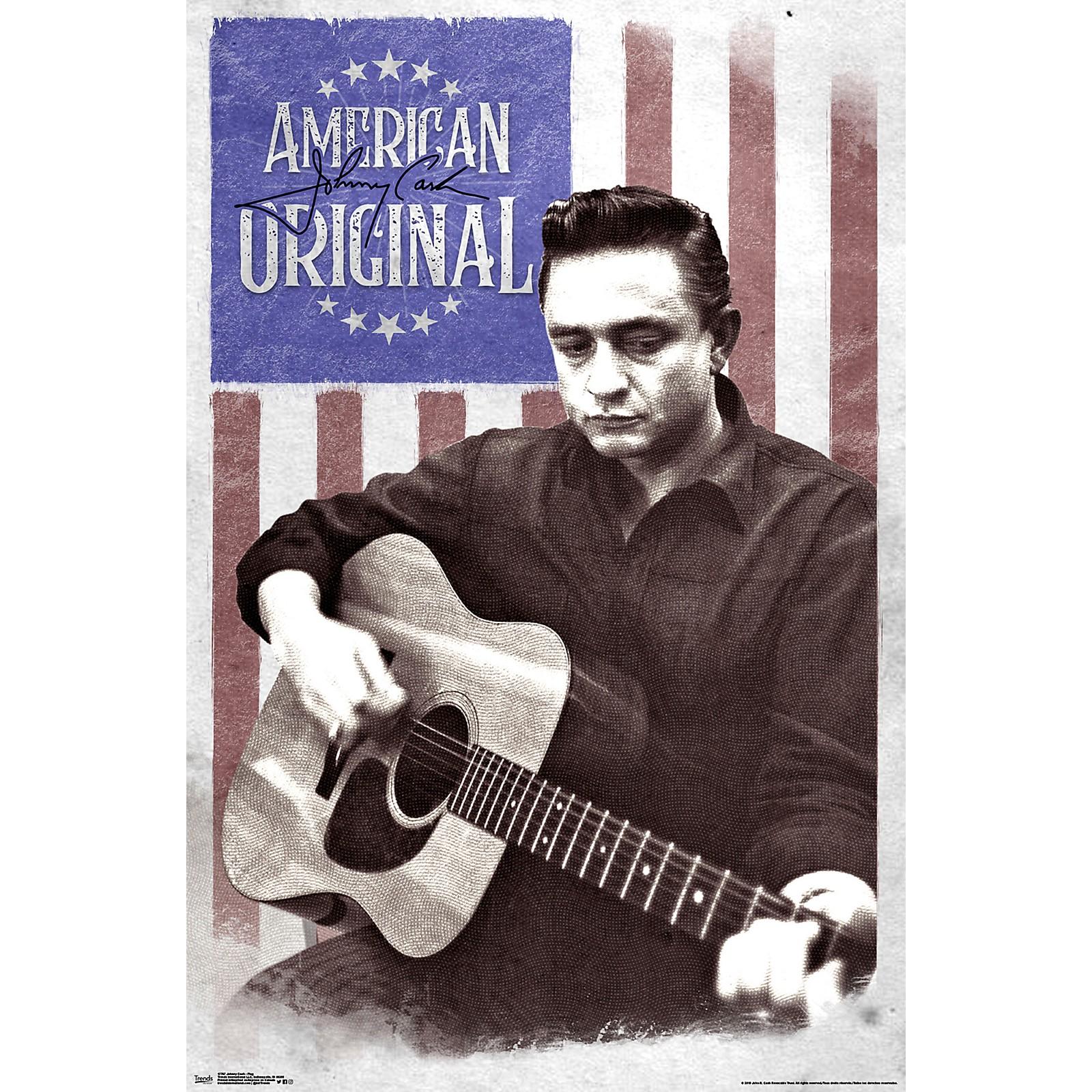Trends International Johnny Cash Flag Poster